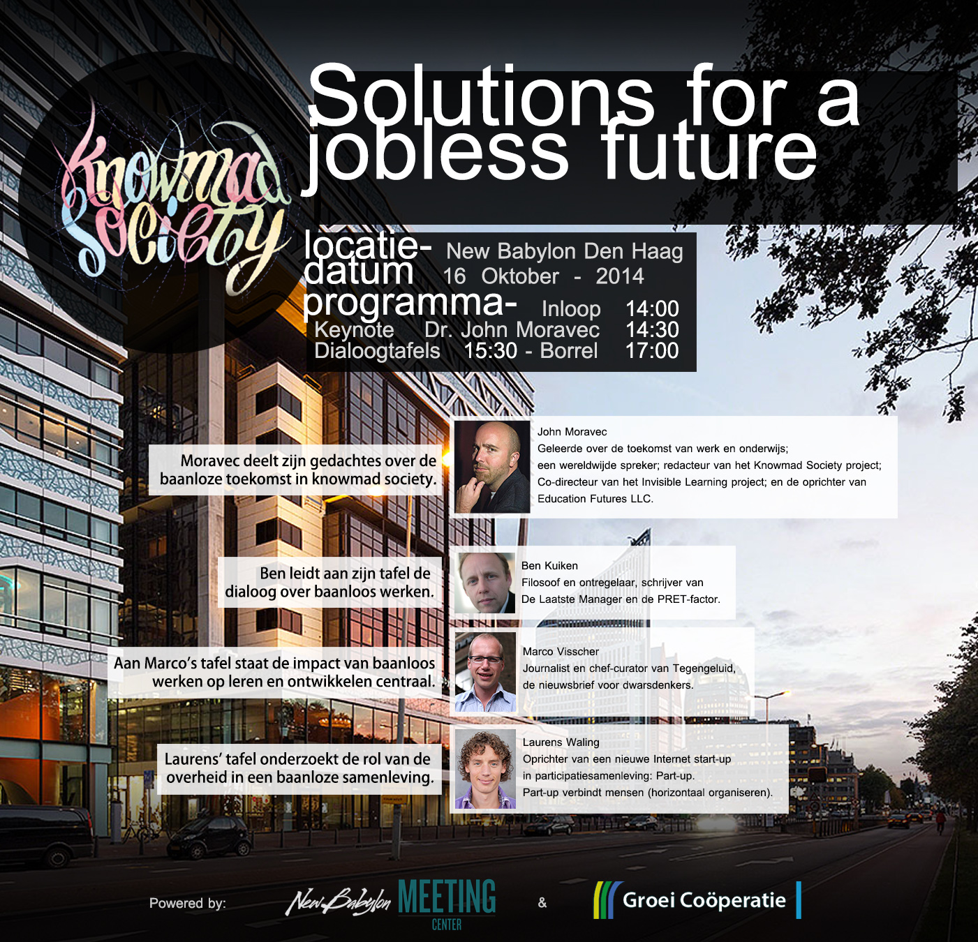 "Solutions for a ""jobless"" future"